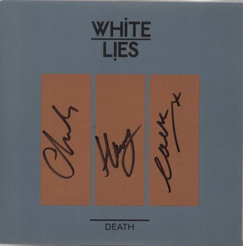 "White Lies Death - Autographed 7"" vinyl single (7 inch record) UK WI407DE660336"