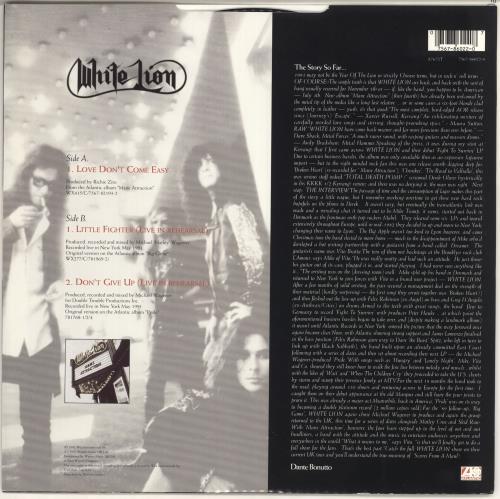 """White Lion Love Don't Come Easy 12"""" vinyl single (12 inch record / Maxi-single) UK WHT12LO725504"""