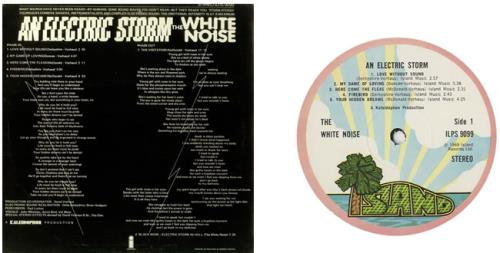 White Noise An Electric Storm Pink Rim Label Uk Vinyl Lp