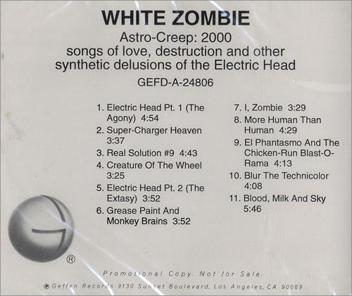 White Zombie Astro-Creep: 2000 CD album (CDLP) US WHZCDAS113808