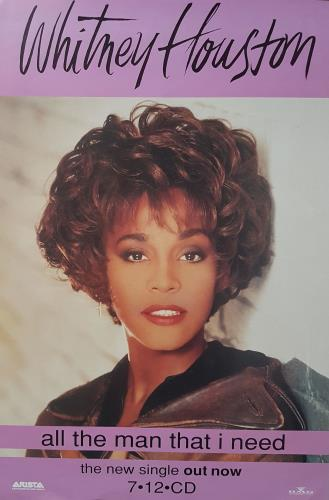 Whitney Houston All The Man That I Need poster UK HOUPOAL680402