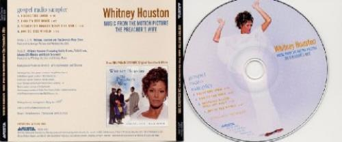 "Whitney Houston Gospel Radio Sampler CD single (CD5 / 5"") US HOUC5GO92668"