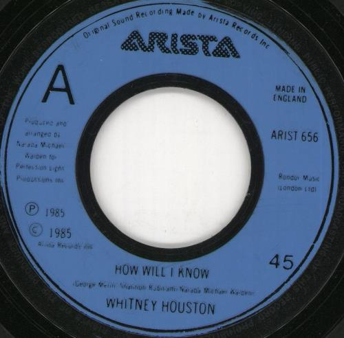 "Whitney Houston How Will I Know - Jukebox 7"" vinyl single (7 inch record) UK HOU07HO724254"