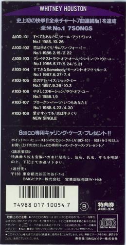 """Whitney Houston I Wanna Dance With Somebody 3"""" CD single (CD3) Japanese HOUC3IW28586"""