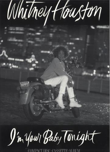 Whitney Houston I'm Your Baby Tonight poster UK HOUPOIM680381
