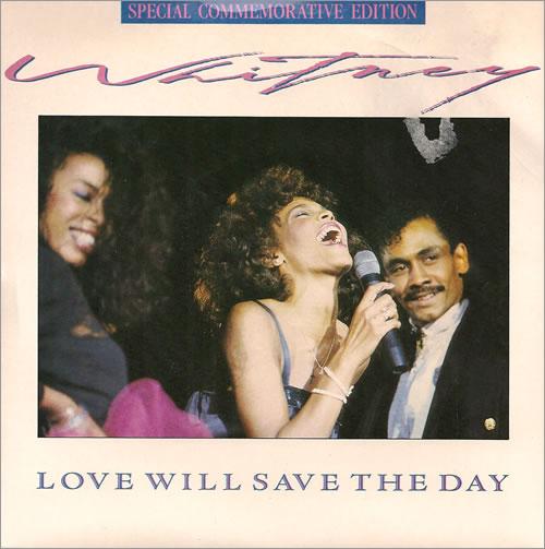 "Whitney Houston Love Will Save The Day - Birmingham 7"" vinyl single (7 inch record) UK HOU07LO20443"