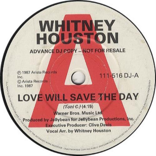 """Whitney Houston Love Will Save The Day 7"""" vinyl single (7 inch record) UK HOU07LO11518"""