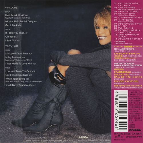Whitney Houston My Love Is Your Love CD album (CDLP) Japanese HOUCDMY427974