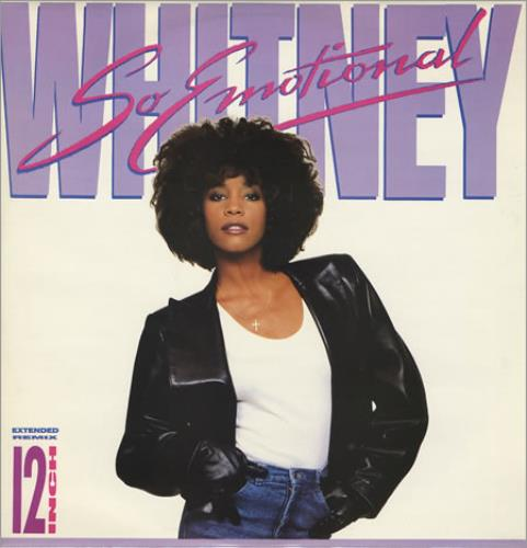 "Whitney Houston So Emotional 12"" vinyl single (12 inch record / Maxi-single) UK HOU12SO19378"