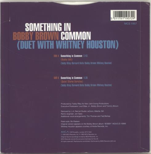 "Whitney Houston Something In Common 7"" vinyl single (7 inch record) UK HOU07SO195631"