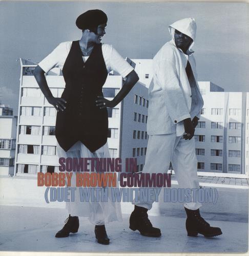 "Whitney Houston Something In Common 12"" vinyl single (12 inch record / Maxi-single) UK HOU12SO71547"