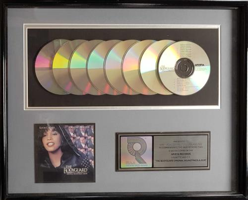 Whitney Houston The Bodyguard: Original Soundtrack Album - 8,000,000 award disc US HOUAWTH694011