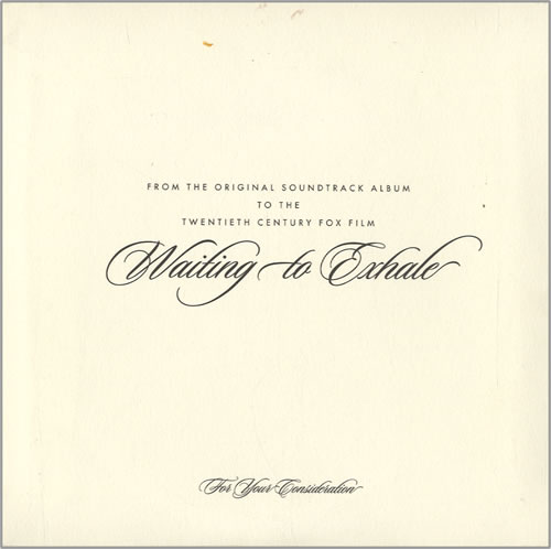"Whitney Houston Waiting To Exhale CD single (CD5 / 5"") US HOUC5WA456540"