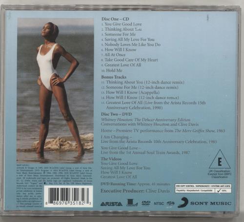 Whitney Houston Whitney Houston - Deluxe Anniversary Edition 2-disc CD/DVD set UK HOU2DWH696269