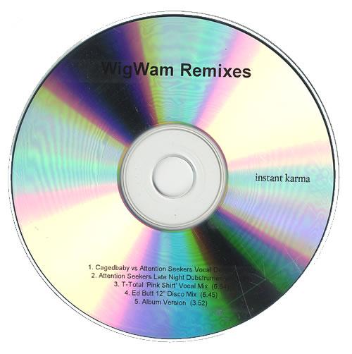 Wigwam Remixes CD-R acetate UK WGMCRRE472496