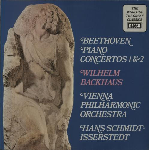 Wilhelm Backhaus Beethoven: Piano Concertos 1 & 2 vinyl LP album (LP record) UK XYOLPBE661190