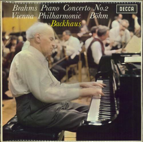 Wilhelm Backhaus Brahms: Piano Concerto No. 2 In B Flat, Op. 83 vinyl LP album (LP record) UK XYOLPBR651486