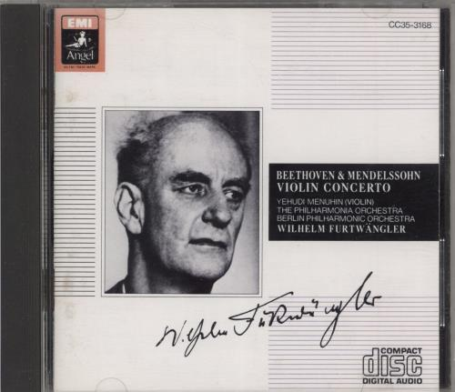 Wilhelm Furtwängler Beethoven & Mendelssohn: Violin Concerto CD album (CDLP) Japanese 10MCDBE774468