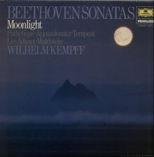 Wilhelm Kempff Beethoven Sonatas 2-LP vinyl record set (Double Album) UK W2L2LBE616051