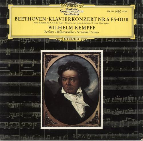 Wilhelm Kempff Beethoven: Klavierkonzert Nr. 5 Es-Dur vinyl LP album (LP record) German W2LLPBE710377