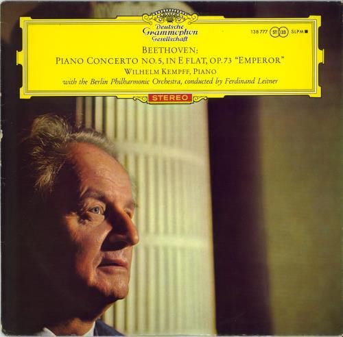 Wilhelm Kempff Beethoven: Piano Concerto No. 5 in E-flat, Op. 73 'Emperor' vinyl LP album (LP record) German W2LLPBE535054