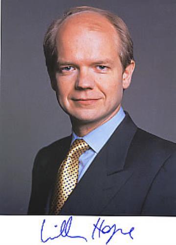 William Hague Autographed Portrait Photograph photograph UK WH2PHAU260808