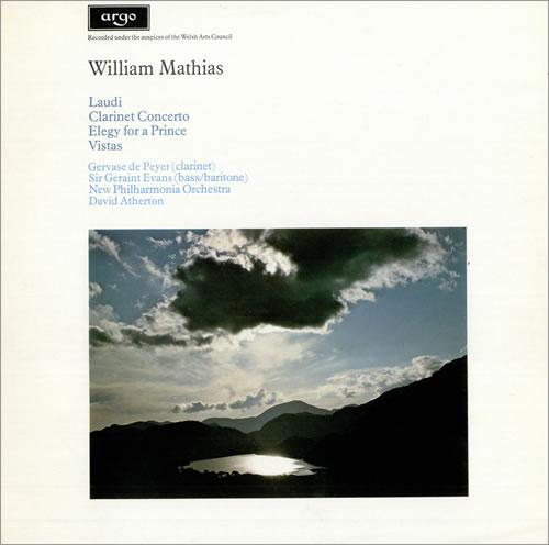 William Mathias Laudi, Clarinet Concerto vinyl LP album (LP record) UK WCOLPLA483390