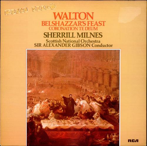 William Walton Belshazzar's Feast / Coronation Te Deum vinyl LP album (LP record) UK WCFLPBE527722