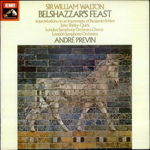 William Walton Belshazzar's Feast vinyl LP album (LP record) UK WCFLPBE525478