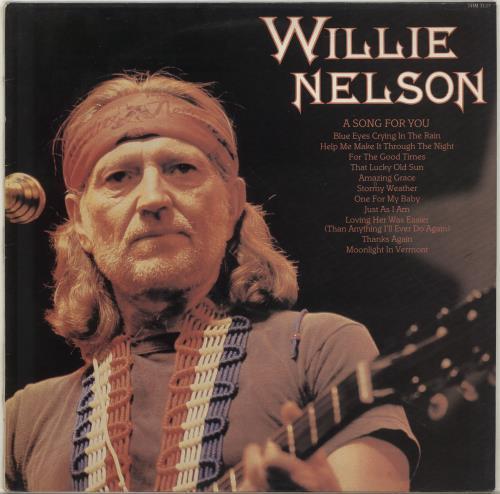 Willie Nelson A Song For You vinyl LP album (LP record) UK WNLLPAS701093