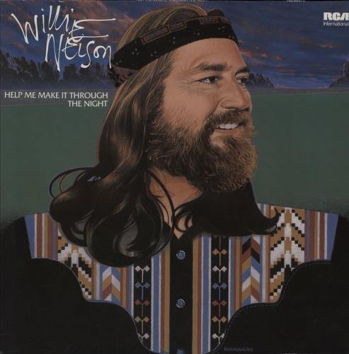 Willie Nelson Help Me Make It Through The Night vinyl LP album (LP record) German WNLLPHE756934