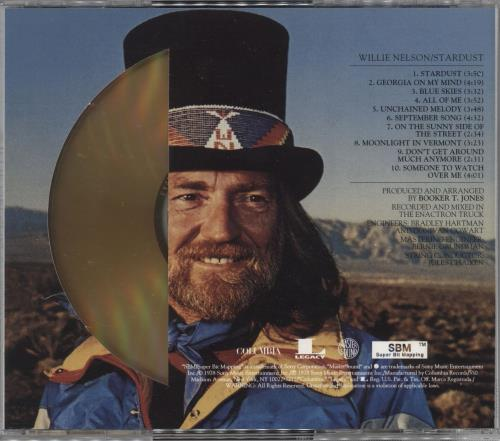 Willie Nelson Stardust - Gold Disc CD album (CDLP) US WNLCDST726179
