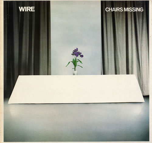 Wire Chairs Missing - sample stickered vinyl LP album (LP record) UK WIRLPCH559886
