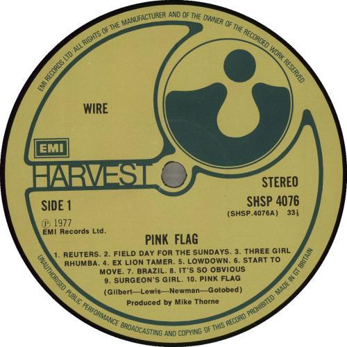 Wire Pink Flag UK vinyl LP album (LP record) (701714)
