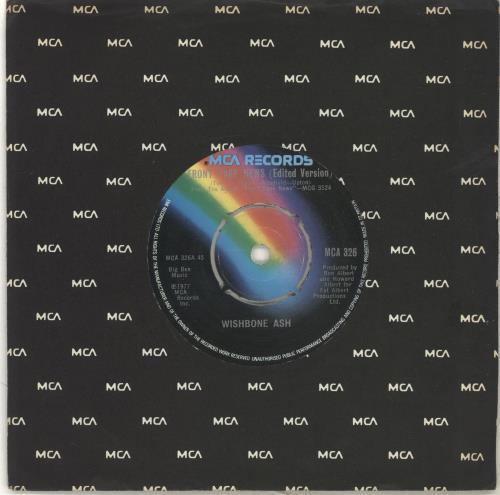"Wishbone Ash Front Page News (Edited Version) 7"" vinyl single (7 inch record) UK WSH07FR702641"