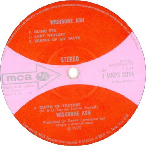 Wishbone Ash Wishbone Ash - 1st vinyl LP album (LP record) UK WSHLPWI216857