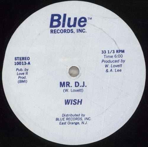 "Wish (Winfred Lovett) Mr DJ 12"" vinyl single (12 inch record / Maxi-single) US 09Z12MR742380"