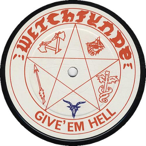 Witchfynde Give 'Em Hell vinyl LP album (LP record) UK WITLPGI332620
