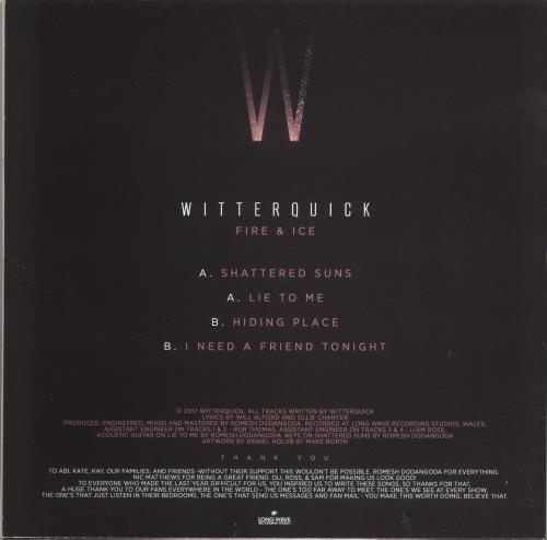 """Witterquick Fire & Ice EP - Autographed 12"""" vinyl single (12 inch record / Maxi-single) UK Y2612FI706011"""