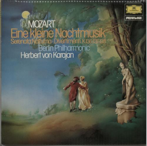 Wolfgang Amadeus Mozart Eine Kleine Nachtmusik vinyl LP album (LP record) UK WZMLPEI647706