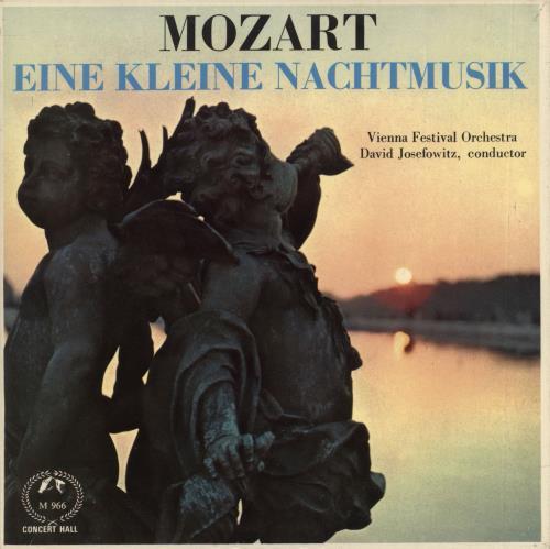 """Wolfgang Amadeus Mozart Eine Kleine Nachtmusik 7"""" vinyl single (7 inch record) UK WZM07EI719981"""
