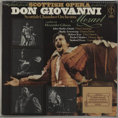 Wolfgang Amadeus Mozart Highlights From The Scottish Opera Production Of Don Giovanni vinyl LP album (LP record) UK WZMLPHI671066