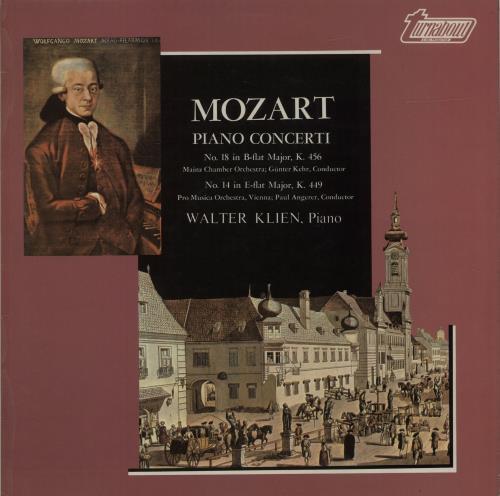 Wolfgang Amadeus Mozart Mozart: Piano Concerti vinyl LP album (LP record) UK WZMLPMO681456