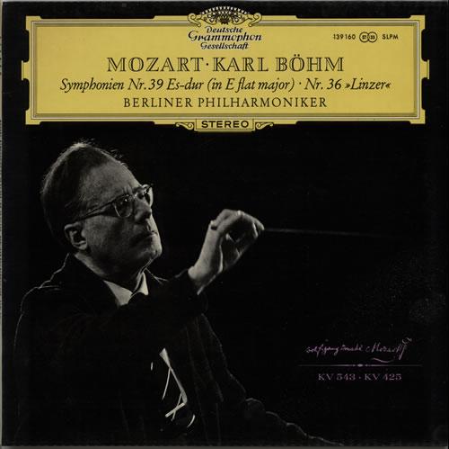 Wolfgang Amadeus Mozart Symphonien Nr. 39 Es-dur / Nr. 36 »Linzer« vinyl LP album (LP record) German WZMLPSY628446