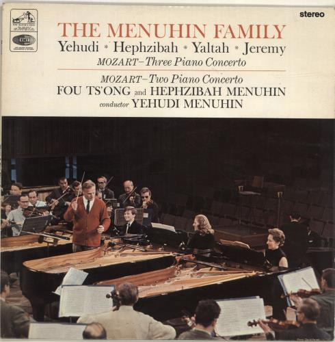 Wolfgang Amadeus Mozart Three Piano Concerto / Two Piano Concerto vinyl LP album (LP record) UK WZMLPTH529545