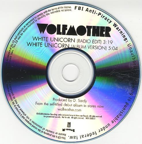 Wolfmother White Unicorn CD-R acetate US WLOCRWH391688