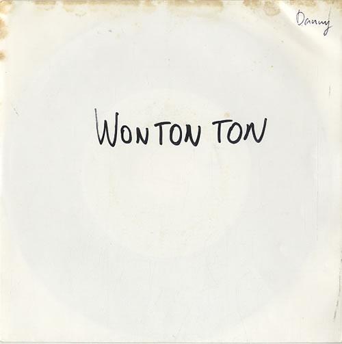 "Won Ton Ton Walking On A Wire - White Label 7"" vinyl single (7 inch record) Belgian XOQ07WA628842"