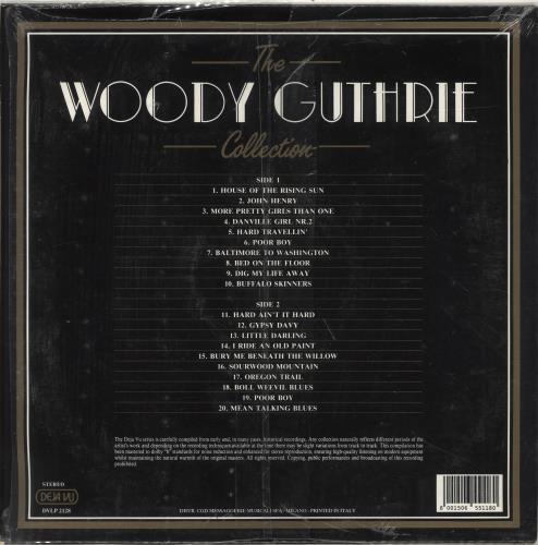 Woody Guthrie The Woody Guthrie Collection vinyl LP album (LP record) Italian WDGLPTH701506