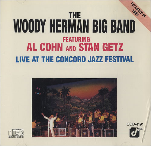 Woody Herman Live At The Concord Jazz Festival CD album (CDLP) US WHMCDLI488051