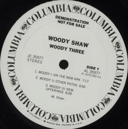 Woody Shaw Woody Three vinyl LP album (LP record) US WOYLPWO667702